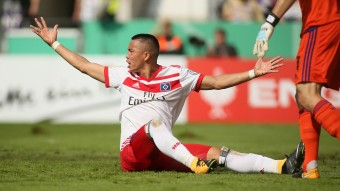 In der HSV-Offensive meist alleingelassen: Bobby Wood © picture alliance